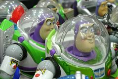 Buzz Lightyear the Space Ranger superhero fictional action figure royalty free stock photo