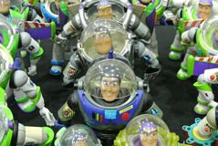 Buzz Lightyear the Space Ranger superhero fictional action figure royalty free stock photos