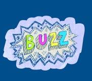 Buzz popart sticker vector Stock Photos