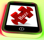 Buzz Smartphone Means Creating Publicity And Awareness Royalty Free Stock Photo