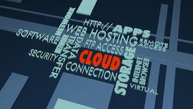 Buzz wordswith focus on CLOUD Stock Images