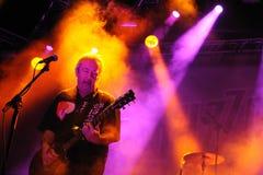 Buzzcocks (banda de punk rock inglesa) se realiza en la BOLA el 14 de julio de 2012 en Benicassim, España fotos de archivo