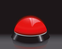 Buzzer. Illustration of an red buzzer Royalty Free Stock Photo