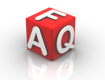 Buzzword Cubes FAQ Stock Photo