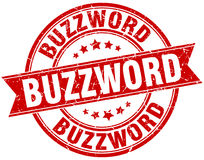 Buzzword round grunge stamp Royalty Free Stock Photography