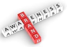 Buzzwords brand awareness Royalty Free Stock Photos