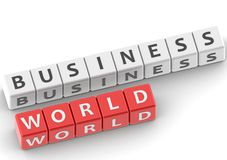 Buzzwords business world Royalty Free Stock Photo