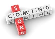 Buzzwords coming soon Stock Photos