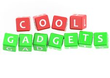 Buzzwords cool gadgets Stock Images