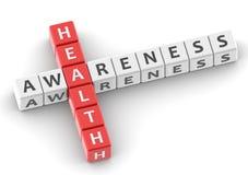 Buzzwords health awareness Royalty Free Stock Image