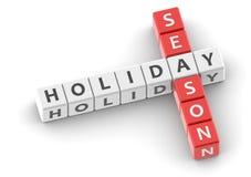 Buzzwords holiday season Royalty Free Stock Photos
