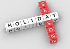 Buzzwords holiday season Stock Photo