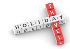 Buzzwords holiday travel Royalty Free Stock Photo