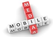 Buzzwords mobile media Stock Photography