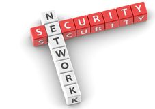 Buzzwords network security Royalty Free Stock Photography