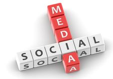 Buzzwords social media Stock Photos