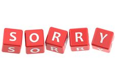 Buzzwords sorry Royalty Free Stock Images