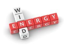 Buzzwords wind energy Stock Photos