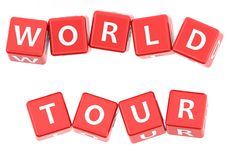 Buzzwords world tour Royalty Free Stock Images