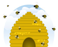 Buzzy Beehive Stock Image