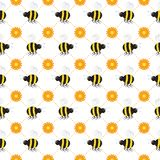 Buzzy Beehive Seamless Tile Royalty Free Stock Photography