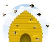 buzzy bikupa stock illustrationer