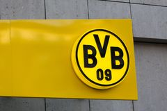 Bvb football club sign in dortmund germany royalty free stock images