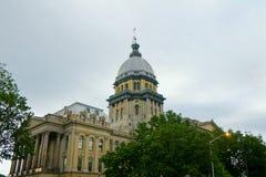 Bóveda y edificio del capitolio de Springfield Foto de archivo