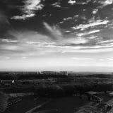 BW城市,云彩 库存图片