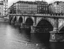 BW布拉格桥梁 免版税库存照片