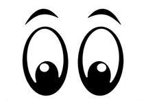 bw眼睛 免版税库存图片