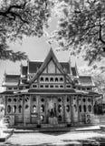 BW红外照片华欣火车站泰国 免版税库存图片