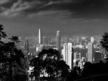 Bw Виктории пика Гонконга Стоковое Изображение