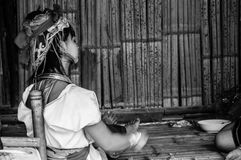 BW 12 племен холма Карена портретов Стоковое Изображение