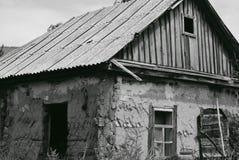bw Руины дома Стоковое Изображение RF