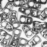 BW Aluminum can pull ring 4 Stock Photography