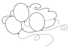 Coloring vector balloons Stock Image