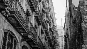 BW Barcelona Spain Stock Photos