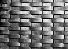 BW Basket. Black and white basket weave Stock Images