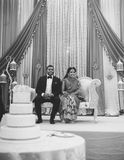 BW bride groom. Bengali smiling bride and groom Stock Photos