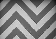 BW Chevron Garage door design Royalty Free Stock Images
