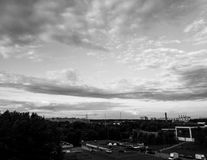 BW City. Black and White, Russia, Moscow Royalty Free Stock Photos