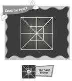 BW Count the squares Royalty Free Stock Image
