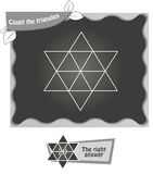 BW Count the triangles 1 Royalty Free Stock Photos