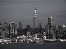 BW del horizonte de NYC Fotografía de archivo libre de regalías