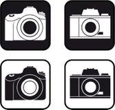 Bw del pictograma de la cámara Imagen de archivo libre de regalías
