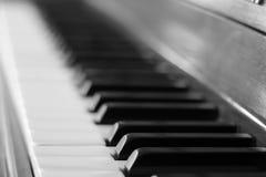 BW del teclado de piano Imagen de archivo libre de regalías