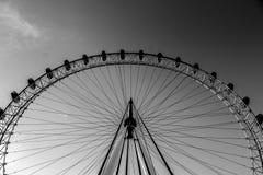 Bw dell'occhio di Londra Fotografia Stock Libera da Diritti