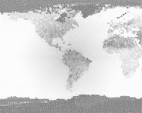 BW di vetro macchiato della terra del pianeta Fotografie Stock Libere da Diritti