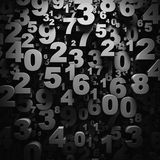 3D numbers wallpaper Stock Photos